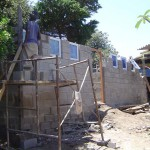 Building the Coffee Shack ablution facilities